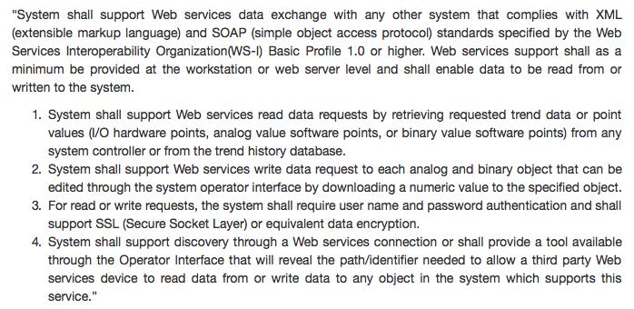 a web services spec for bacnet