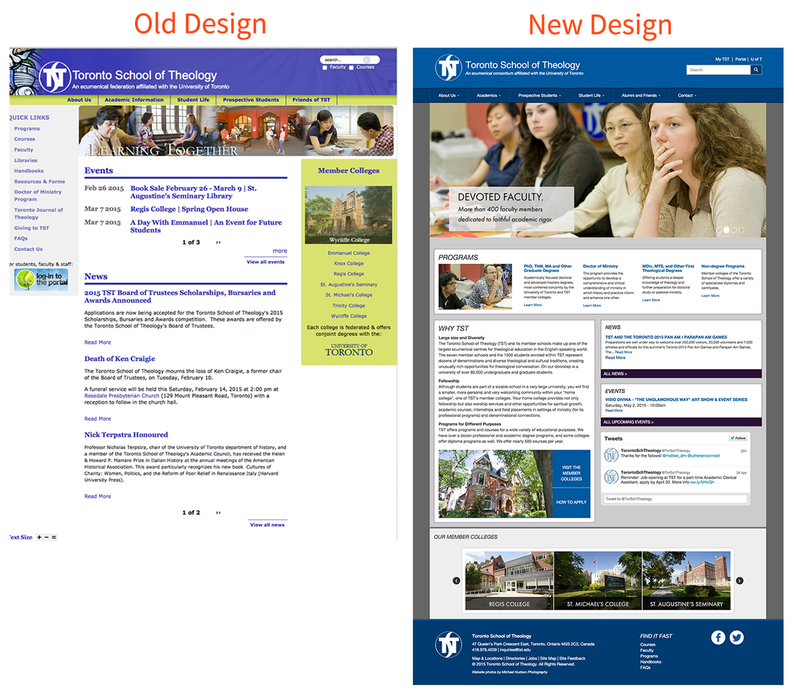 TST Before and After: Homepage