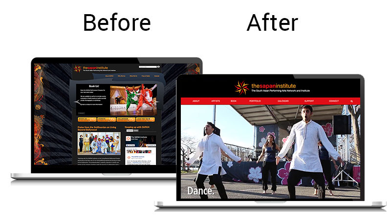 SAPAN Homepage Comparison