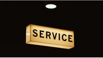 Photo of Service Sign.  Photo Credit: Mike Wilson.
