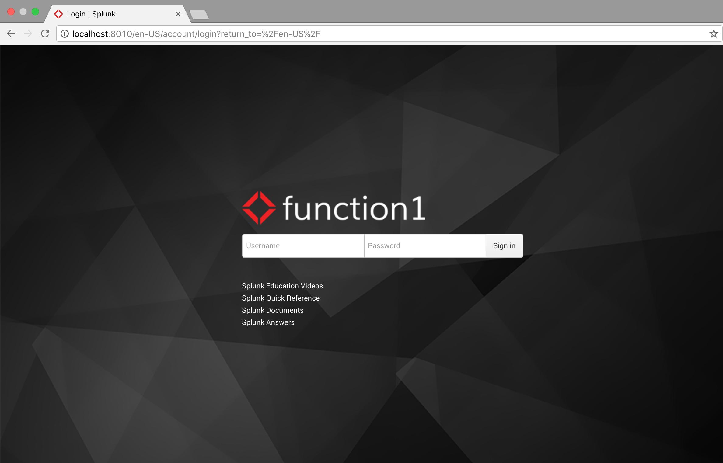 Customizing the Splunk Login Page | Function1