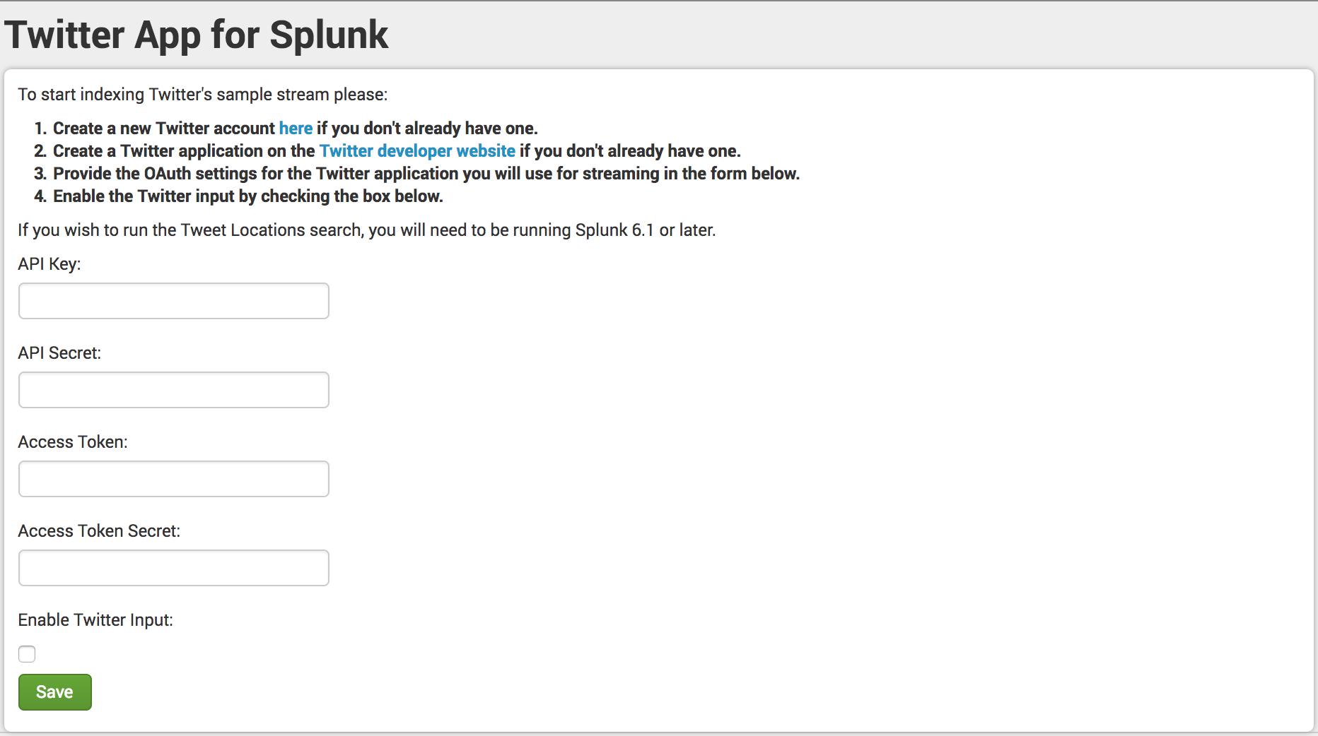 Splunk Setup Tutorial Using Twitter Data | Function1