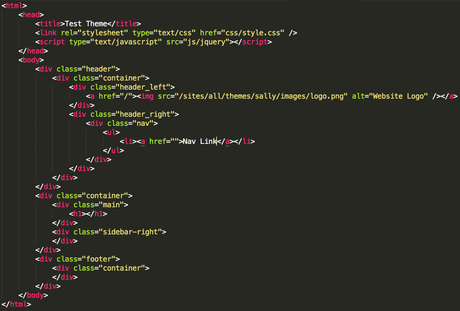 converting basic html css into a drupal theme function1