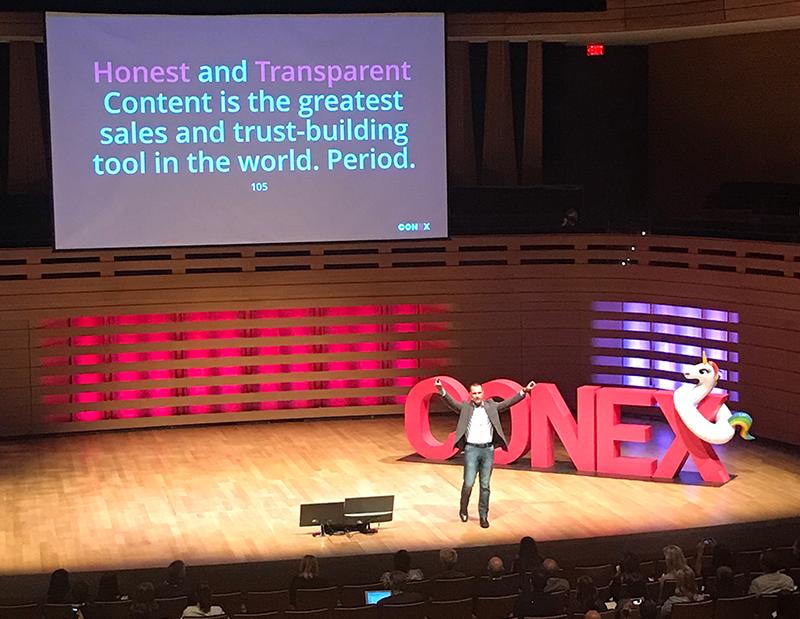 Marcus Sheridan at #ConEx