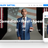 An image of Rajiv Satyal's Website as seen on a laptop and mobile.