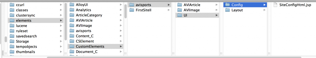 Location for avisports toolbar customizations